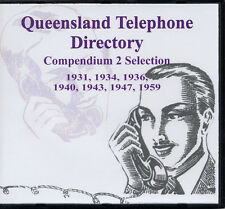 Genealogy-Queensland Telephone Directory Set (7 years) vintage