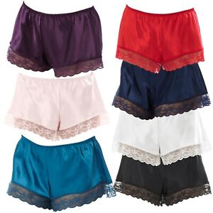 French Knickers Satin & Lace Ladies Womens Underwear Sexy & Elegant Size 8 - 20