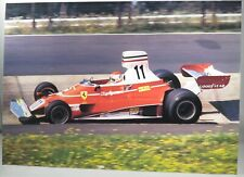 PHOTO cm 21x30 FERRARI 312T #11 Clay Regazzoni F1 GERMAN GP NURBURGRIING 1975