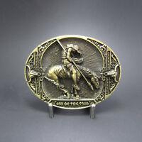 Bronze Plate End Of the Trail Oval Belt Buckle Gurtelschnalle Boucle de ceinture
