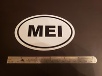 MEI Oval Sticker Aviation Pilot Aircraft Cessna Piper Cirrus Diamond Mooney