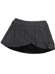 Title Nine Skirt Size M Medium Gray Va Va Vroom Power Mesh Skort Shorts