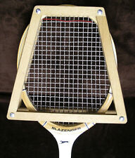 "SLAZENGER Tournament WOODEN TENNIS RACKET Fibre Armoured 4 3/4"" M w/ Head Frame"