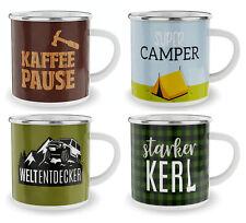 Auswahl La Vida Emaille Kaffee Tee Camping Outdoor Tasse Becher