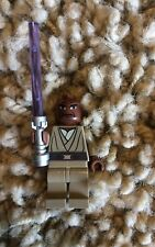 Lego Star Wars Mace Windu Minifigure 7868 8019 With Purple Lightsaber