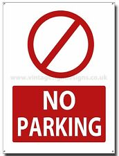 NO PARKING METAL SIGN.(A3 SIZE) INSRUCTIONAL NO PARKING SIGN.INFORMATION SIGN
