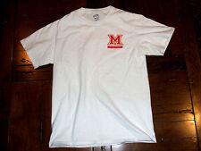 Miami of Ohio University Bookstore White Small T-Shirt Port & Company Redhawks
