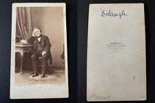 Disdéri, Paris, Le politicien Claude Alphonse Delangle Vintage cdv albumen print
