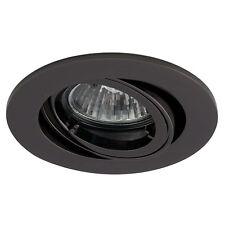 10 x black chrome tilt  twist lock GU10 mains 240v recessed spotlight