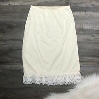 Vintage Wonder Maid Vintage M Half Slip Ivory Lace Hem