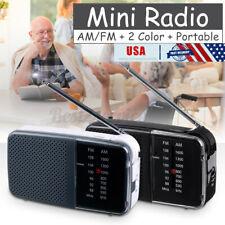 US 2 Band Portable Retro Mini Radio FM AM Broadcast Pocket Receiver Player PVC