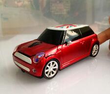 US Cordless 2.4Ghz Mini Cooper Car USB Optical Wireless Mouse PC Laptop MAC Mice