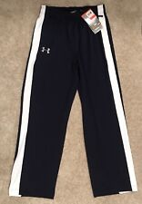 New with Tags Under Armour Boys Athletic Pants Size X-Large Navy White