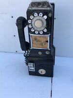 Vintage Western Electric Bell Rotary Pay Phone 3 Coin Slot Rare