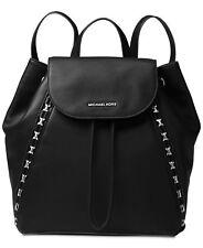 NWT Michael Kors Sadie Medium Backpack Black Leather Dust Cover - FACTORY SEALED