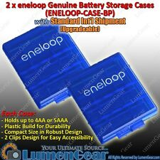 2 x Sanyo Panasonic eneloop Battery Storage Case AA AAA Holder Plastic Box
