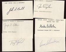 11 Astronauts Autographed Index Cards B & E Hologram