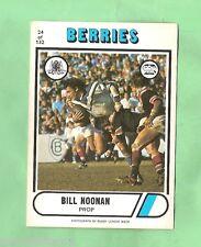 1976 SCANLENS  RUGBY LEAGUE CARD  #24  BILL NOONAN, CANTERBURY BULLDOGS
