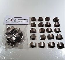 20 Elite Greenhouse Glazing Spring Clips - rust free steel clips to hold glass