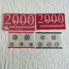 More details for usa 2000 denver 10 coin uncirculated mint year set - 2 sealed pack
