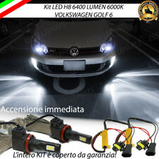 KIT FULL LED VW GOLF 6 VI LAMPADE H8 FENDINEBBIA CANBUS 6400 LUMEN 6000K