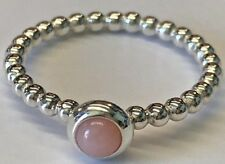 PANDORA   PINK OPAL CABOCHON RING *NEW* 190610POP RARE RETIRED STERLING SILVER