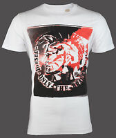 DIESEL Mens T-Shirt MOHICAN Mohawk WHITE Casual Designer Jeans $58 NWT