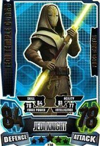 Force Attax Series 4 Star Wars The Clone Wars Jedi Temple Guard Force Master