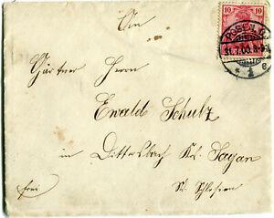 Brief Stempel POSEN 31. 7. 1900 nach DITTERSDORF Kr. SAGAN /POZNAN