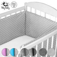 Bettumrandung Babybett Nestchen Bettnestchen Kopfschutz 420x30, 210, 180cm Minky