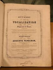 Auguste Panseron Méthode de vocalisation ténor soprano partition Schott 2e livre