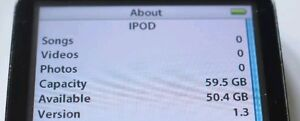 iPod Classic Video 3, 4, 6, 7th generation 64GB SSD (SD CARD) Upgrade Service