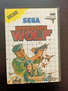 OPERATION WOLF - SEGA MASTER SYSTEM BOXED