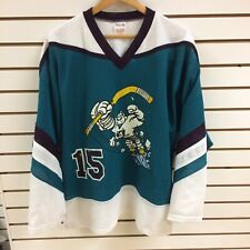 Vintage Anaheim Mighty Ducks Hockey Jersey Size Medium Replica House League