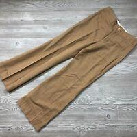 Banana Republic Har-rison Brown Pinstriped Pants Women's Slacks Size 14R P62
