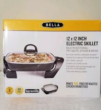 "Bella Ceramic Electric Skillet 12""x12"" (NEW)"