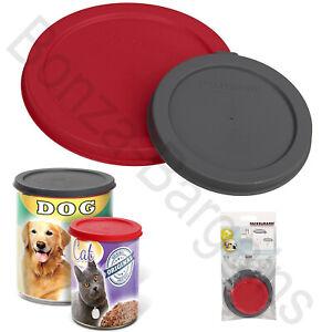 PET FOOD CAN COVER PET Plastic Lids Top Tin Caps Fresh Storage LARGE STANDARD