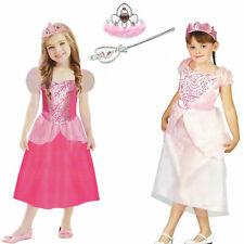 Mädchen Prinzessin Kostüm Kleid Diadem / Spielset Zepter Zauberstab Krone Rosa