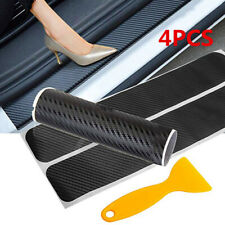 Car Stickers Carbon Fiber Auto Door Sill Protector Scuff Plate Trim Accessories