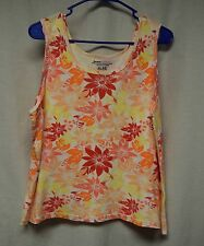 Womens Shirt Size XL By Basic Editions Multi Color Tank Pull Over Sleeveless