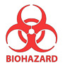"4"" - 10"" BIOHAZARD WARNING Decal Vinyl Sticker Logo & Label Pick SIZE & COLOR"