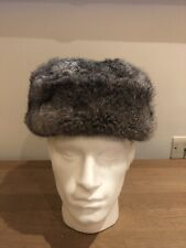 Russian Vintage Real Rabbit Fur Men's Ushanka / Trapper Style Hat Size M