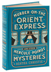 MURDER ON THE ORIENT EXPRESS Agatha Christie ~BRAND NEW SEALED LEATHER BOUND~