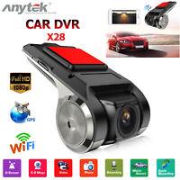 Anytek X28 1080P FHD Car DVR Camera Recorder WiFi ADAS Motion G-sensor Dash Cam