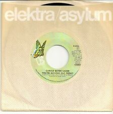 CAROLE BAYER SAGER 45  You're Moving Out Today / Shy As A Violet - NM