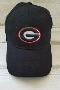 Georgia Bulldogs Ball Cap Hat Adjustable Baseball Black