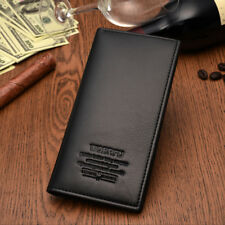 Fanshion Man Long Synthetic Leather Wallet Billfold For Cash & Cards HM001 Black