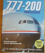 777-200 Professional ADD ON Flight Simulator by Just Flight Boxed Manual