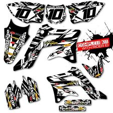 2009 2010 2011 KXF 450 GRAPHIC KIT KAWASAKI ISLANDSTRIKE: WHITE / BLACK DECALS