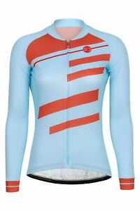 Sundried Women's Long Sleeve Retro Cycle Jersey Road Bike Cycling Top Ladies